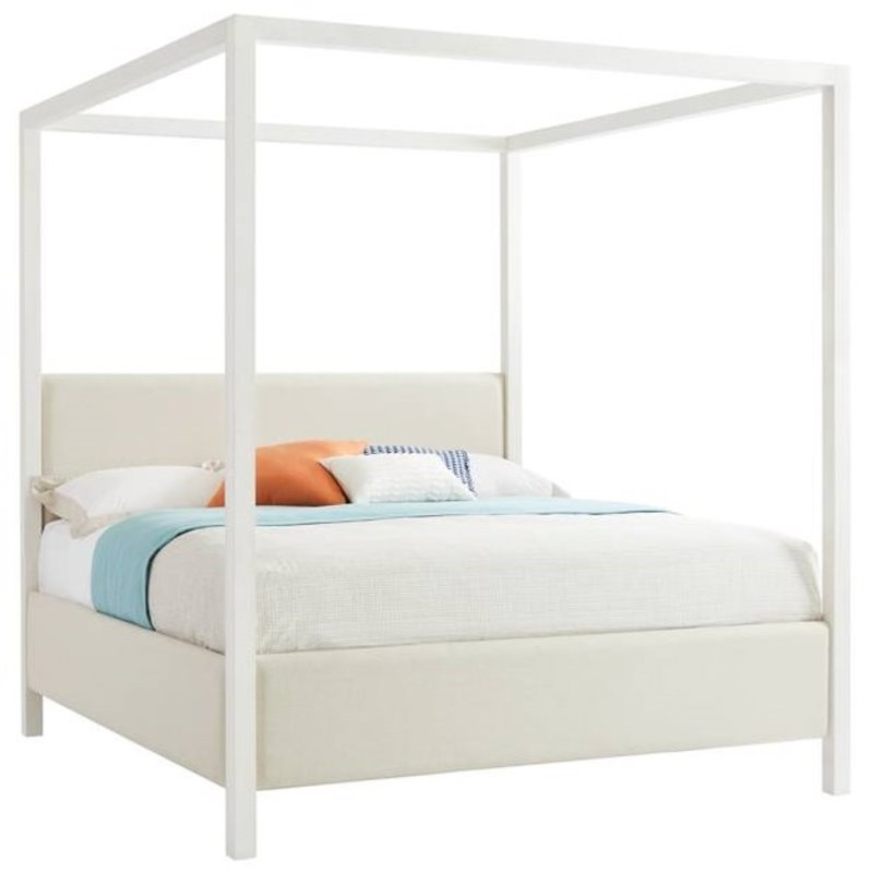 Stanley Furniture Panavista Archetype California King Canopy Bed In Alabaster 704 23 48