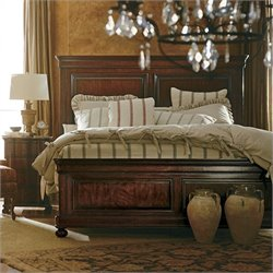 Stanley Furniture Louis Philippe Queen Panel Bed in Orleans