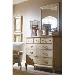 Stanley Furniture Portfolio European Cottage Dresser and Mirror in White