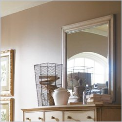 Stanley Furniture Portfolio European Cottage Landscape Mirror in Vintage White