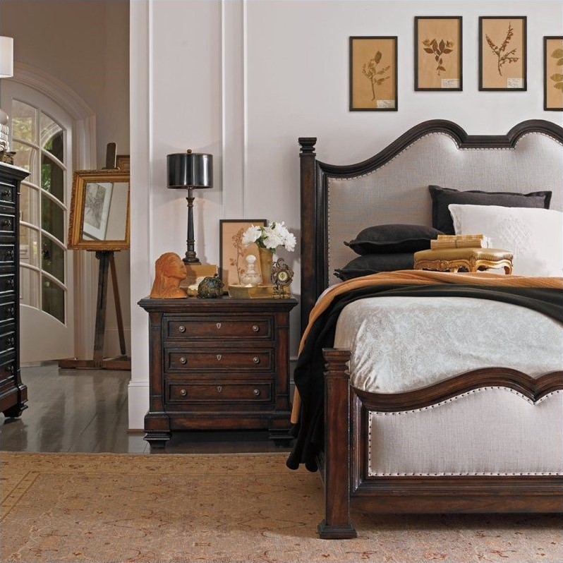 Stanley Furniture European Farmhouse King Upholstered Bed in Terrain
