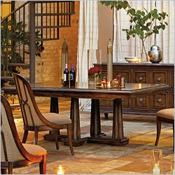Stanley Furniture Archipelago Calypso Pedestal Dining Table in Fathom
