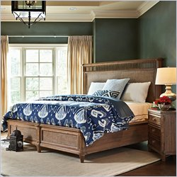 Stanley Furniture Archipelago Nevis Woven Bed in Shoal - Queen