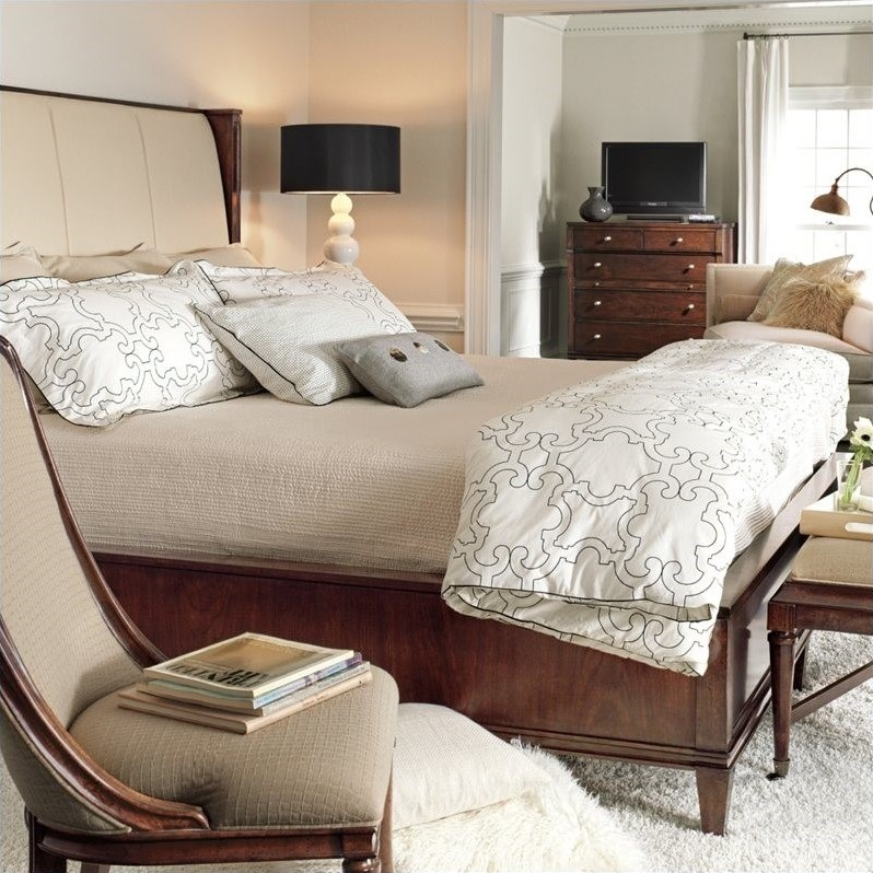 Stanley Furniture Avalon Heights Queen Upholstered Panel Bed in Chelsea