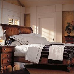 Stanley Furniture British Colonial Sleigh Bed in Caribe - Queen