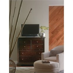 Stanley Furniture Transitional Media Chest in Polished Sable