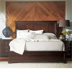 Stanley Furniture Transitional Queen Panel Bed in Polished Sable
