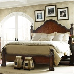 Stanley Furniture Continental Mansion Bed in Barrel - Queen
