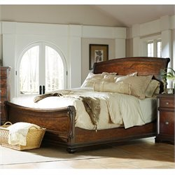 Stanley Furniture Continental Sleigh Bed in Barrel - Queen