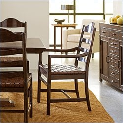 Stanley Furniture Artisan Ladderback Arm Chair in Barrel
