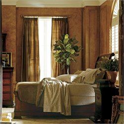 Stanley Furniture Louis Philippe Sleigh Bed in Burnished Honey - Queen