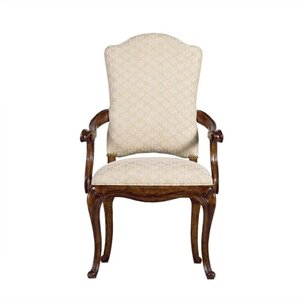 Stanley Arrondissement Volute Arm Dining Chair in Heirloom Cherry