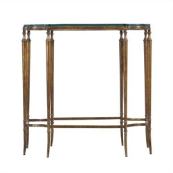 Stanley Furniture Arrondissement Soiree Glass Top Side Table in Heirloom Cherry
