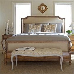 Stanley Arrondissement Queen Upholstered Bed in Sunlight Anigre