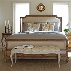 Arrondissement Upholstered Bed in Sunlight Anigre