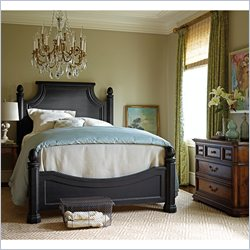 Stanley Furniture Arrondissement Reverie 3 Piece Bedroom Set in Rustic Charcoal and Heirloom Cherry