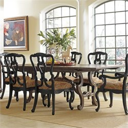 Stanley Furniture Portfolio Rustica Rectangular Dining Harvest Dining Table in Sorrel