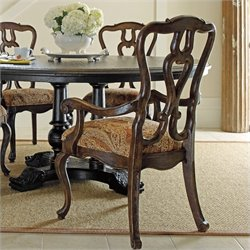 Stanley Furniture Portfolio RusticaArm Dining Chair in Sorrel