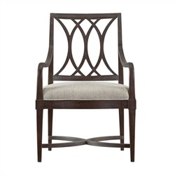 Stanley Furniture Coastal Living Resort Heritage Coast Arm Dining Chair in Channel Marker