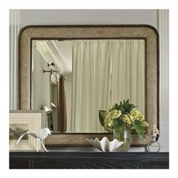Stanley Furniture Coastal Living Resort Pacific Pointe Landscape Mirror in Sandy Linen