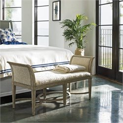 Stanley Furniture Coastal Living Resort Surfside Bed End Bench in Sandy Linen