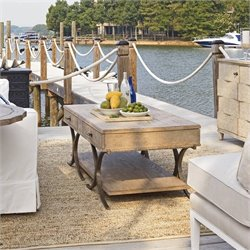 Stanley Furniture Coastal Living Resort Windward Dune Cocktail Table in Weathered Pier