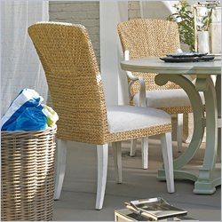 Stanley Furniture Coastal Living Resort Waters Edge Woven Side Chair in Sail Cloth