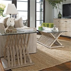 Stanley Furniture Coastal Living Resort 2 Piece Coffee Table Set in Weathered Pier