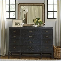 Stanley Furniture Coastal Living Resort Tranquility Isle Triple Dresser and Mirror Set in Stormy Night