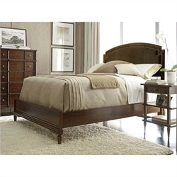 Stanley Furniture Classic Portfolio Vintage Upholstered Bed in Vintage Cherry - Queen