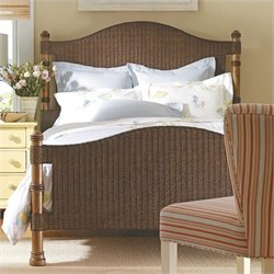 Stanley Furniture Coastal Living Cottage King Low Country Woven Bed in Boardwalk