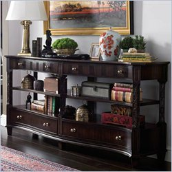 Stanley Furniture Charleston Regency Serpentine Entertainment Console in Classic Mahogany