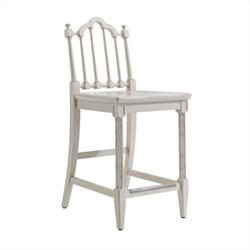 Stanley Furniture Charleston Regency Chippendale Counter Stool in Ropemakers White