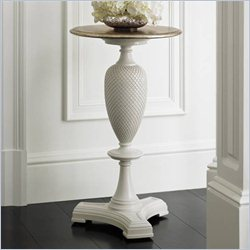 Stanley Furniture Charleston Regency Pineapple Martini Table in Ropemakers White