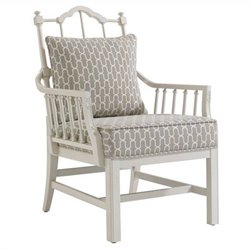 Stanley Furniture Charleston Regency Chippendale Planter's Chair in Ropemakers White