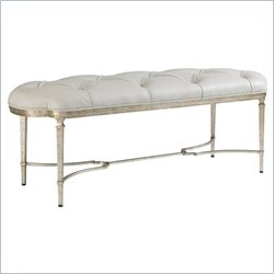 Stanley Furniture Charleston Regency Isle Of Palms Bench in Champagne Silver Leaf