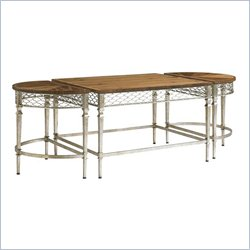 Stanley Furniture Charleston Regency Trinity Cocktail Table in Champagne Silver Leaf