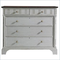 Stanley Furniture Charleston Regency Franklin Media Chest in Gray Linen