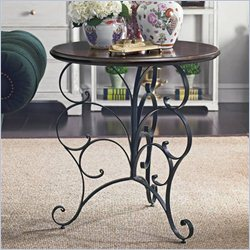 Stanley Furniture Charleston Regency Ribbon Scroll End Table in Charleston Green