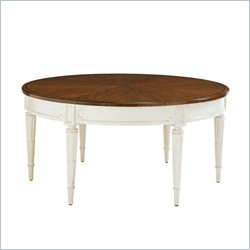 Stanley Furniture Fairfax Round Cocktail Table in Cotton