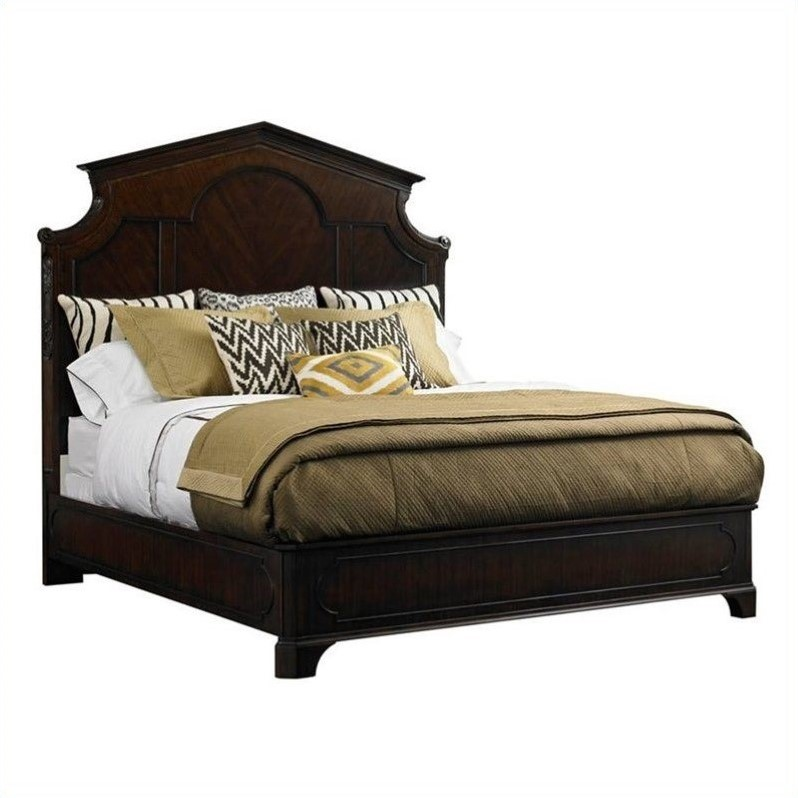 Stanley Charleston Regency Queen Cathedral Bed in Classic Mahogany