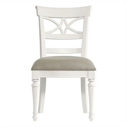 Stanley Furniture Coastal Living Retreat Sea Watch Side Chair in Saltbox White