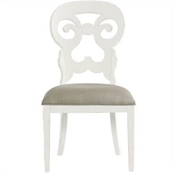 Stanley Furniture Coastal Living Retreat Wayfarer Side Chair in Saltbox White