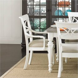 Stanley Furniture Coastal Living Retreat Sea Watch Arm Chair in Saltbox White