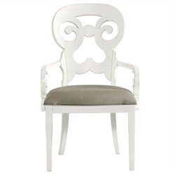 Stanley Furniture Coastal Living Retreat Wayfarer Arm Dining Chair in Saltbox White