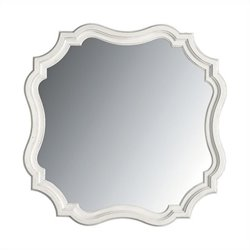 Stanley Furniture Coastal Living Retreat Piecrust Mirror in Saltbox White