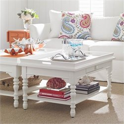 Stanley Furniture Coastal Living Retreat Sand Box Cocktail Table in Saltbox White