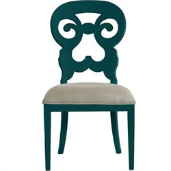 Stanley Furniture Coastal Living Retreat Wayfarer  Dining Chair in Belize Teal
