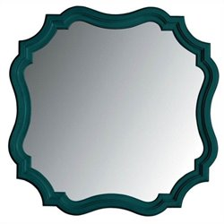 Stanley Furniture Coastal Living Retreat Piecrust Mirror in Belize Teal
