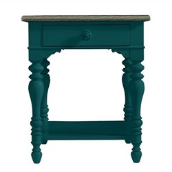 Stanley Furniture Coastal Living Retreat Lamp Table in Belize Teal